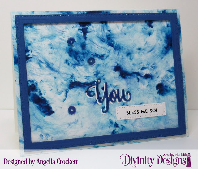 Divinity Designs: You Bless Me So Stamp/Die Duos, Pierced Rectangles Dies, Card Designer Angie Crockett