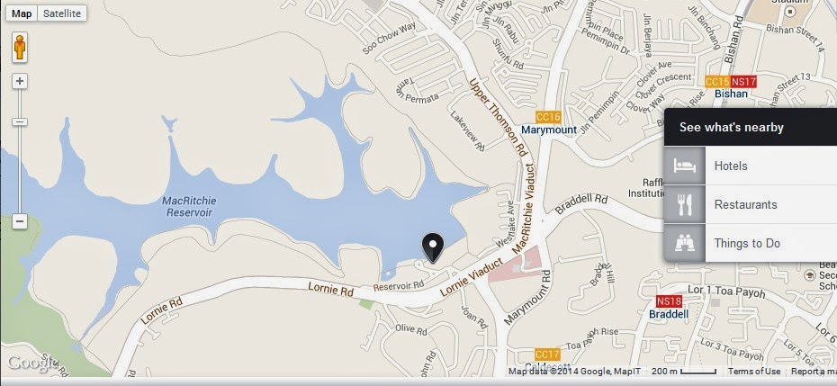 MacRitchie Nature Trail Singapore Location Map,Location Map of MacRitchie Nature Trail Singapore,MacRitchie Nature Trail Singapore accommodation destinations attractions hotels map reviews photos pictures