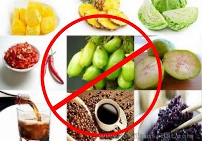 Makanan yang Tidak Boleh Dimakan Selama Sakit Maag Asam Lambung