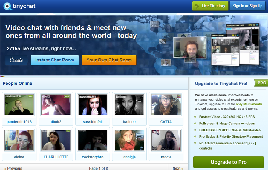 Websites to video chat