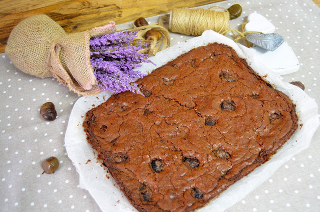 Brownie De Chocolate Con Castañas Asadas