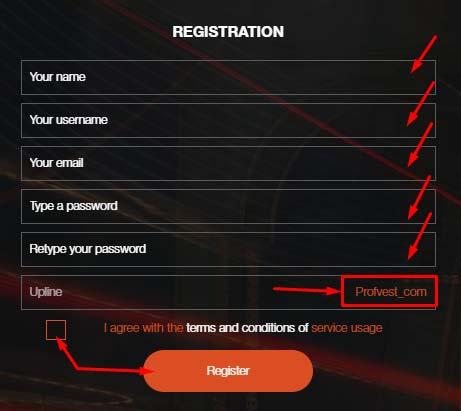 Регистрация в Cryptonia 2