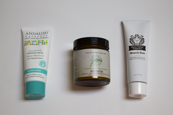 Naturally Me, March Yogi Surprise Box, Yogi Surprise Subscription, Yogi Surprise Review, Andalou Naturals Coconut Milk Firming Mask, Jivana Body Butter, Moon Valley Organic Muscle Rub