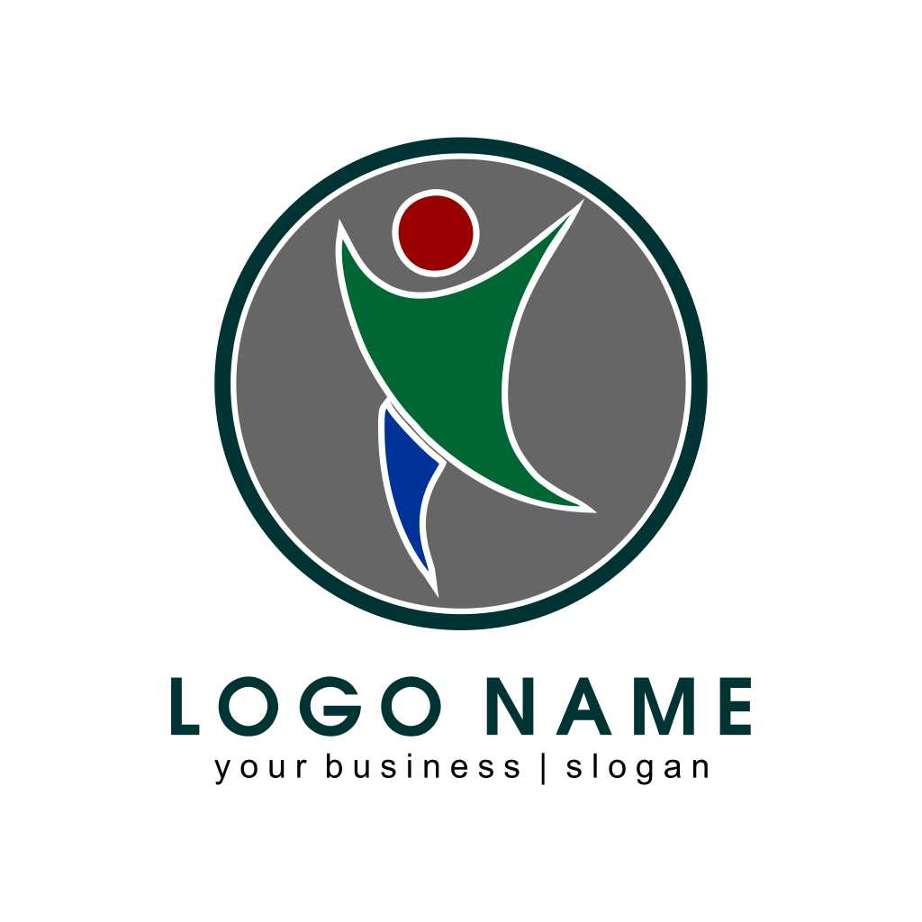 Businessman Abstract Icon Logo Template Free Download Vector CDR, AI, EPS and PNG Formats