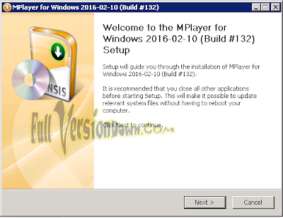 MPlayer 2016-02-10 Build 132 Final Latest