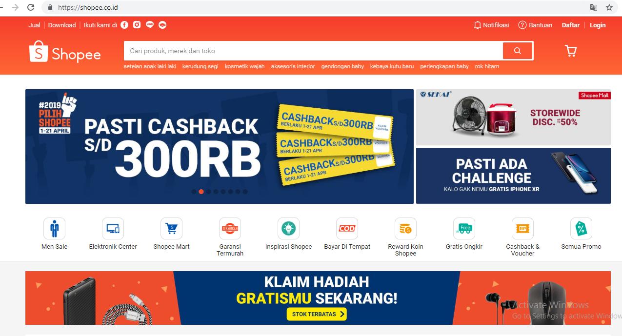Inilah 45 Daftar Website Situs Toko Online Dan Ecommerce Paling