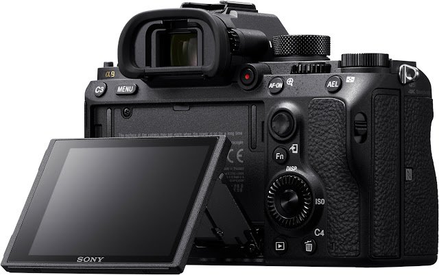 Sony a9 mirrorless camera articulating rear touchscreen
