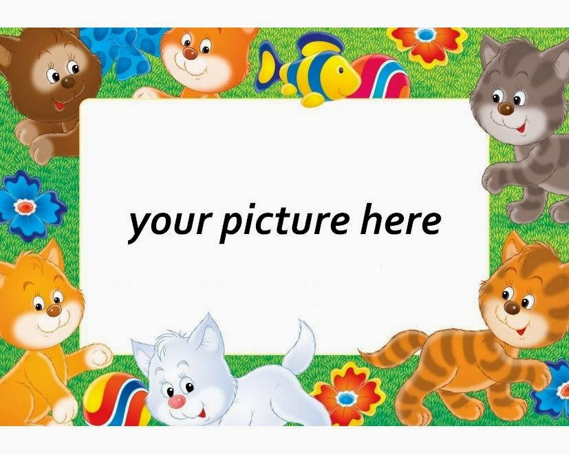 Animals: Free Printable Photo Frames.