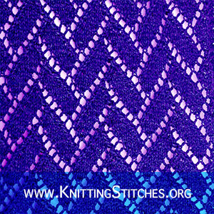LACE KNITTING - Flemish Block stitch pattern. Written instructions and charted.