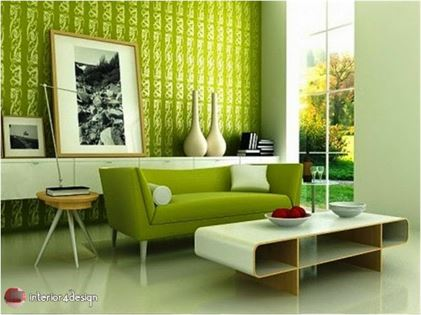 Green Color In Details Of Interior Designs 1