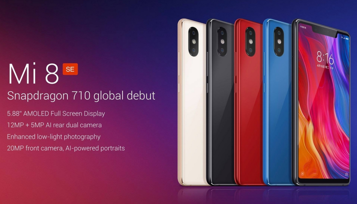 Xiaomi Mi 8 SE, Snapdragon 710 Phones