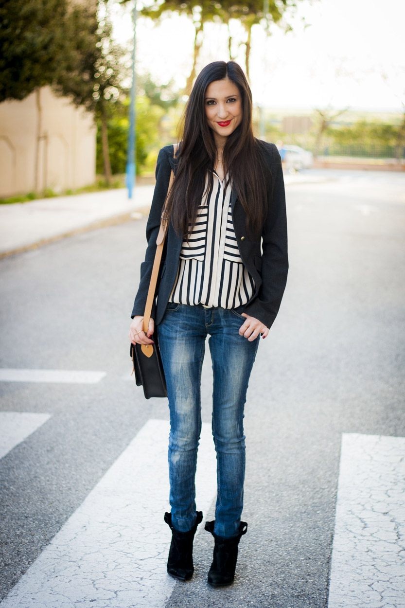 Stripes, Satchel Bag, Cowboy Booties