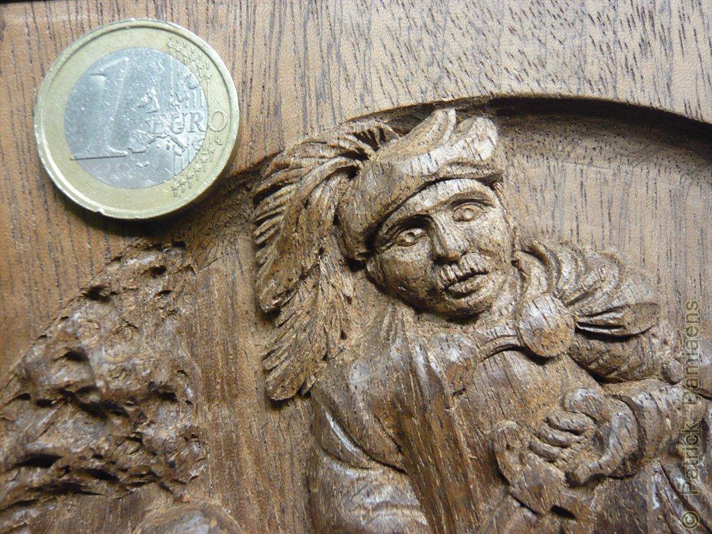 Ornamental woodcarver patrick damiaens a bas relief of