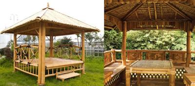 jasa pembuatan gazebo saung bambu jakarta timur murah bagus berkualitas