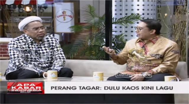 Sebut Lirik #2019GantiPresiden Penuh Fitnah, Ngabalin Terdiam Ketika Fadli Zon Berikan Bukti Ini