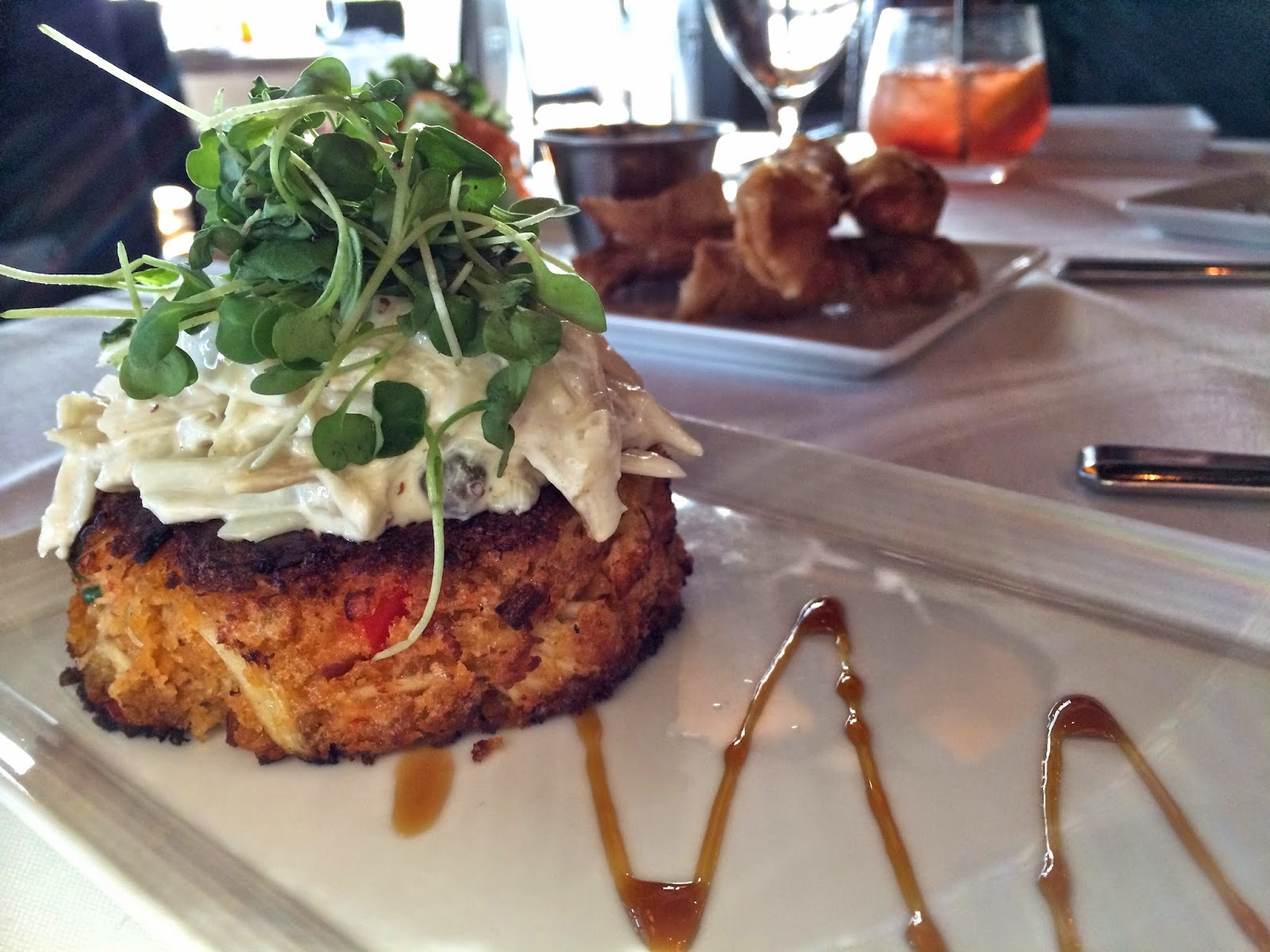 Jumbo Lump Crab Cake with Ground Mustard and Crab Ravigote