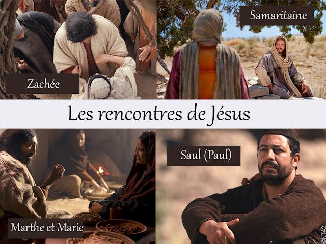 Les rencontres de Jésus avec Marthe et Marie, la Samaritaine, Saul