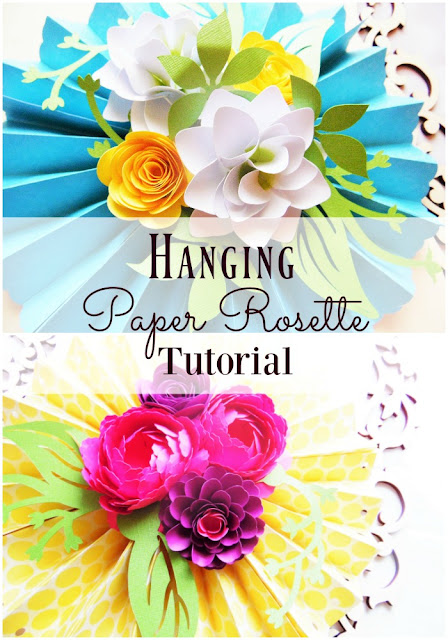 Step by step paper rosette tutorial