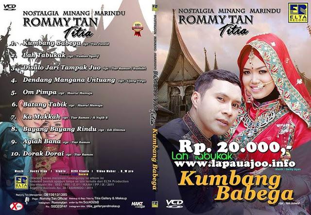 VCD Rommy Tan & Titia - Kumbang Babega  (Album Nostalgia Minang Marindu)