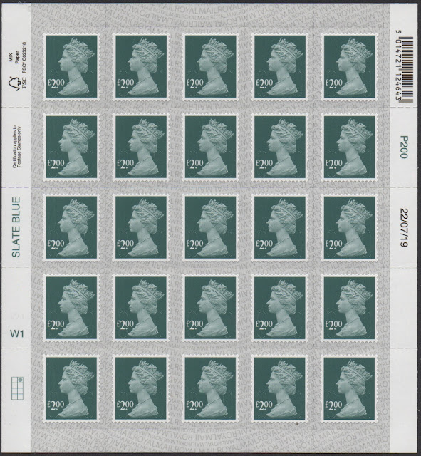 £2 definitive stamp 2019 Walsall printing full sheet