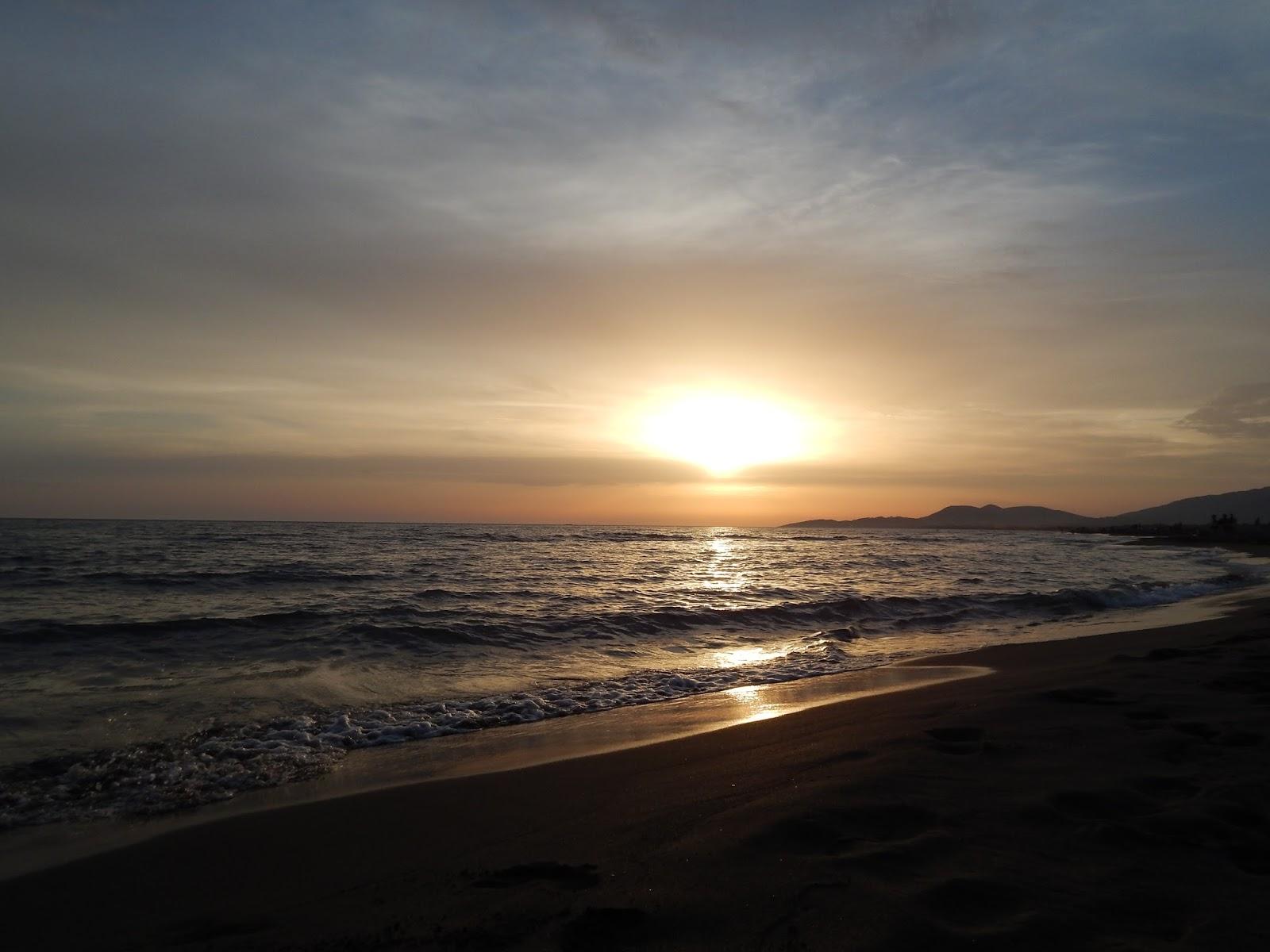Západ Slunce u moře v Černé Hoře Ada Bojana