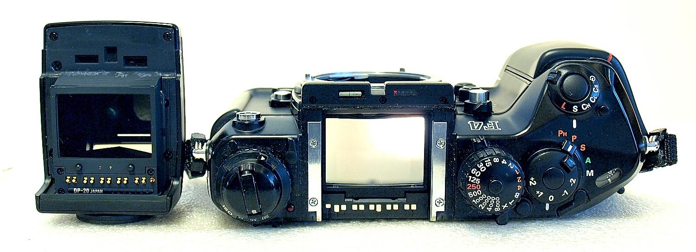 Nikon F4 with MB-20 grip (4xAA cells) #299 03