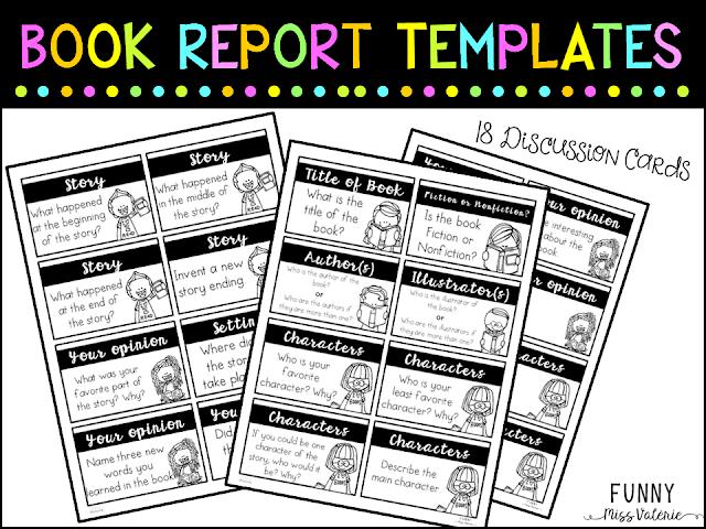 https://www.teacherspayteachers.com/Product/Book-Report-Templates-3137264