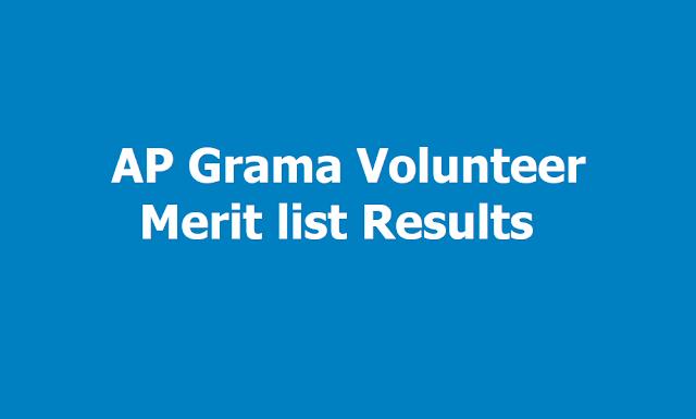 AP Grama/ Ward Volunteer Merit list Results 2019 to be out at gramavolunteer.ap.gov.in