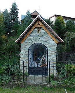 Kapliczka w Wierchomli Małej.