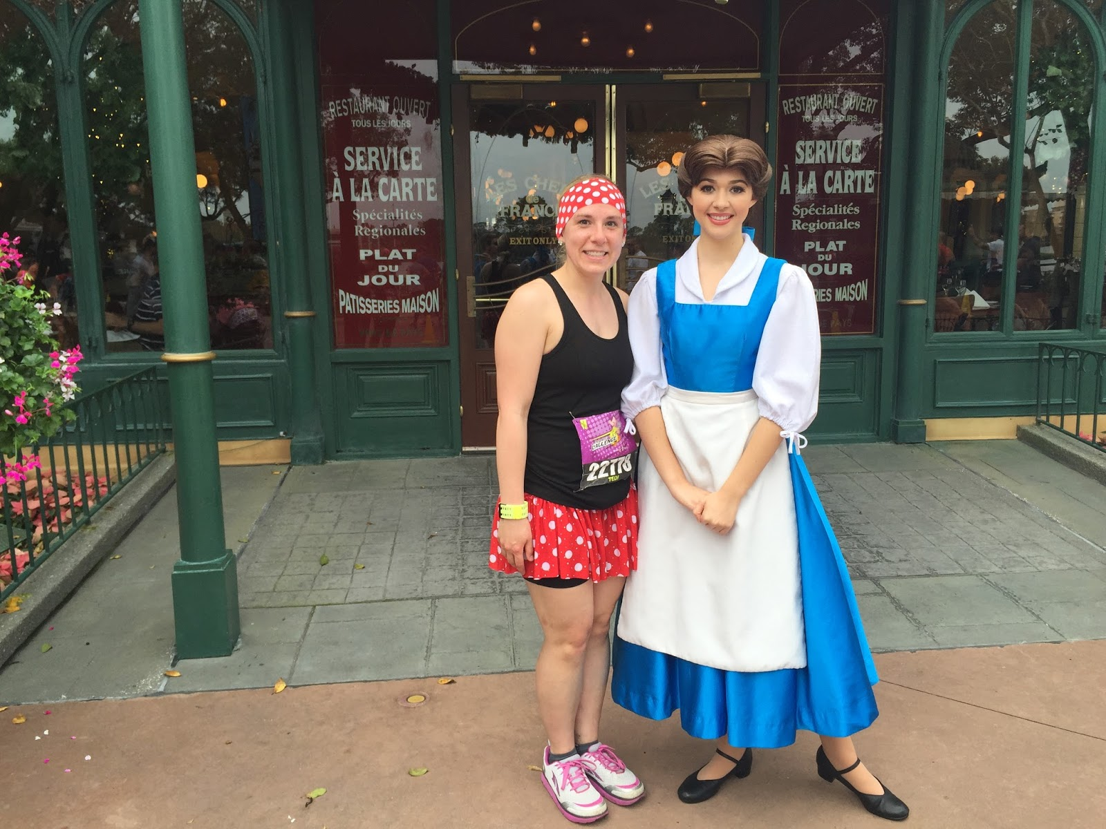 Dopey Challenge Mickey Marathon 2016 Belle from Beauty and the Beast Epcot
