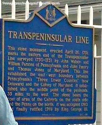 Transpeninsular Line Historical Marker in Fenwick Island, Delaware