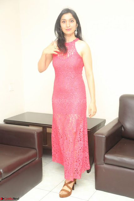 Sakshi Kakkar in Red Legsplit Sleeveless Gown at Dare movie Press meet ~  Exclusive 001.JPG