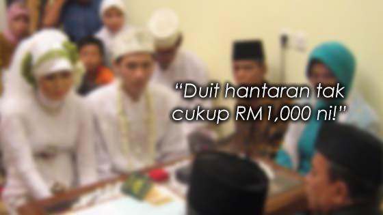 Pengantin Dicerai Selepas Akad Nikah Kerana Duit Hantaran Kurang RM1000