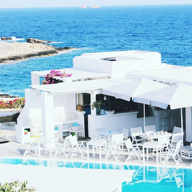 Jelena Zivanovic Instagram @lelazivanovic.Minois village hotel & spa, Paros island, Greece.