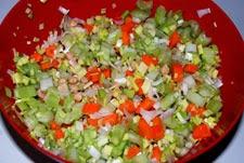 verduras para el caldo de pollo