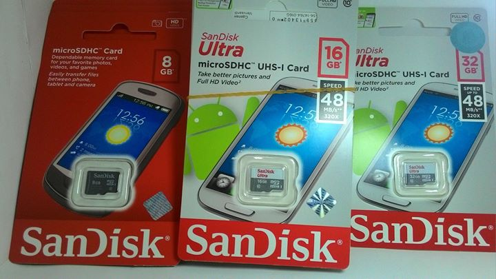 Microsd-Flashdisk-Sandisk, Toshiba-Original