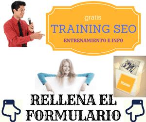 entrenamiento gratis de seo e información gratuita exclusiva de optimización de las búsquedas en tu correo