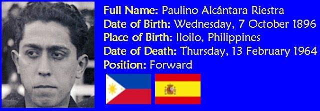 Paulino Alcántara's Ful name, Birth Date, Place