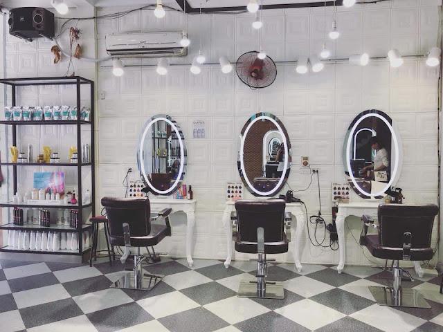 Thiết kế nội thất Salon tóc tại Thái Bình