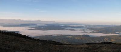 Panorama na słowacką Orawę (słow. Orava, węg. Árva, niem. Arwa) o poranku.