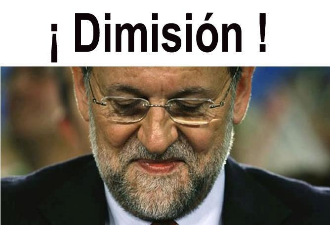 ¡¡¡Rajoy, dimisión!!!