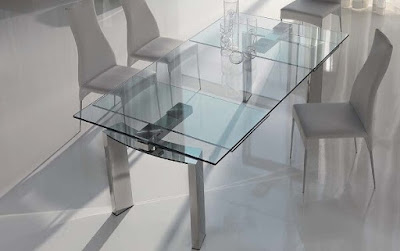 Modern+Dining+Room+Sets-Glass+Table