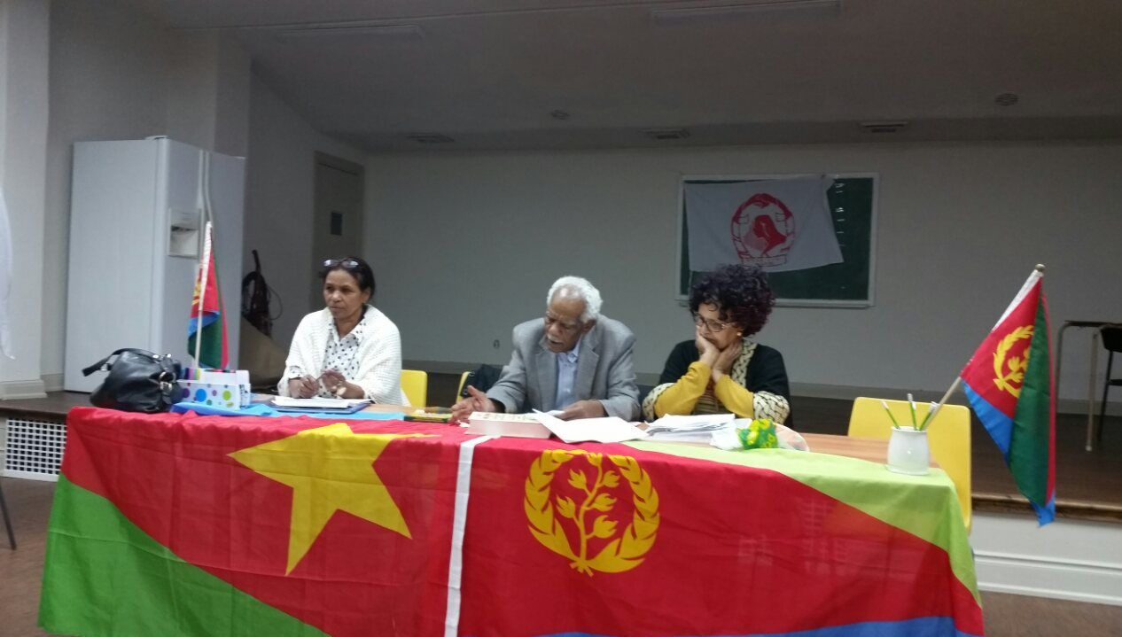 <The National Union of Eritrean Women branch in Toronto, Canada conducted general meeting