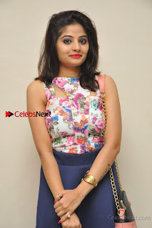 Kannada Actress Mahi Rajput Pos in Floral Printed Blouse at Premam Short Film Preview Press Meet  0010.jpg