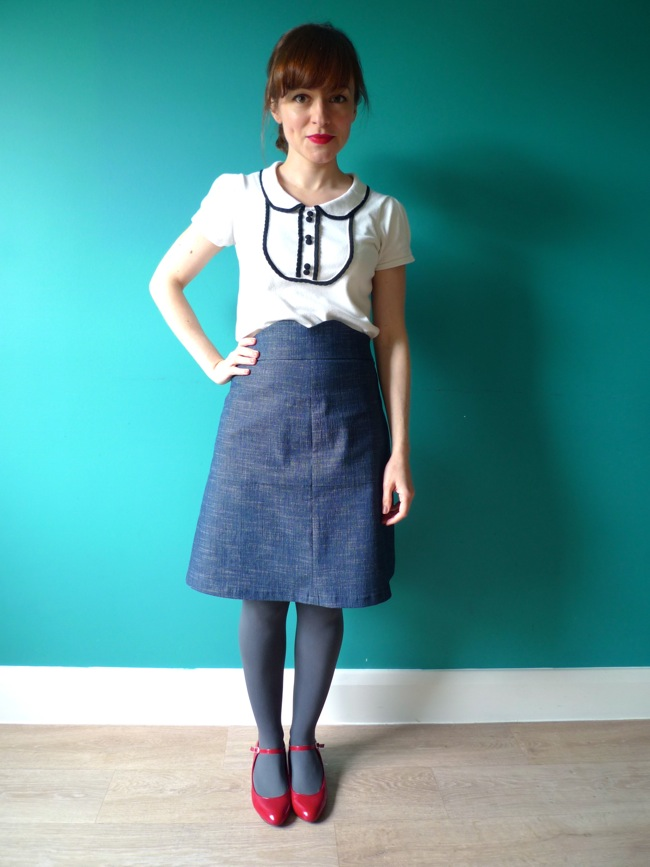 8d0a4ecaf8b8 Tilly and the Buttons  My Denim Ginger Skirt