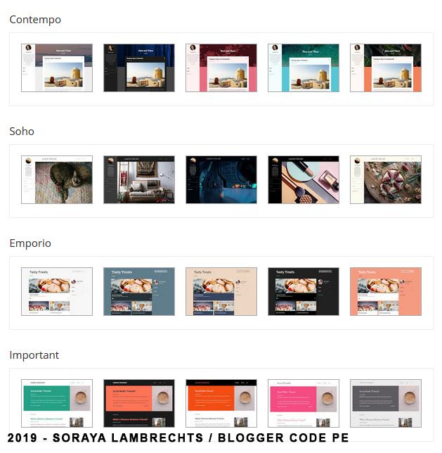 Les thèmes Blogger 2017.