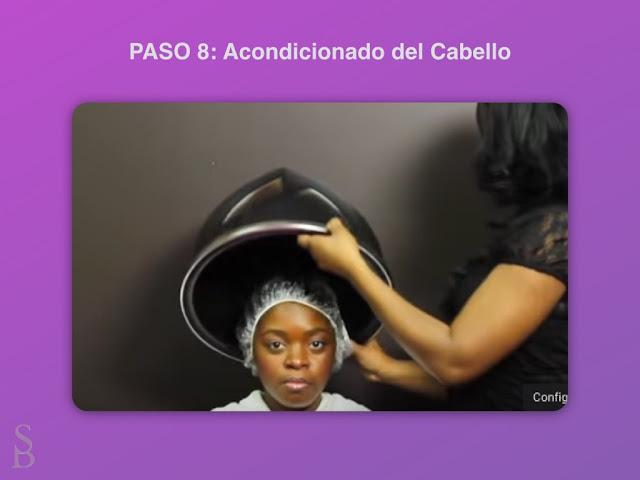 Acondicionado del cabello bajo el secador