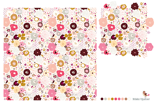 A floral repeat pattern...