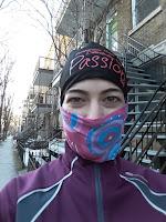 Coureuse hivernale, rue de Montréal