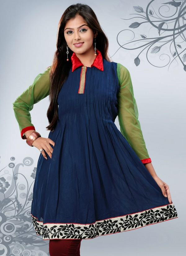 Fashion Style Womens Girls Summer Kurti Kurta With Tights And Jeans Collection 2013 New